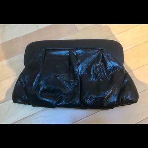 Handbags - Patent Leather black clutch. Excellent condition!
